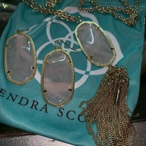Kendra Scott like new rose quarts set